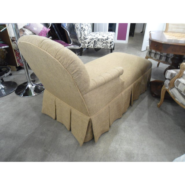 Tufted Brown Chaise - Image 4 of 5