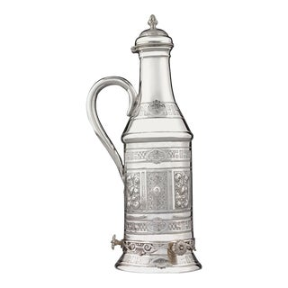 Victorian Silverplate Wine Bottle Holder For Sale
