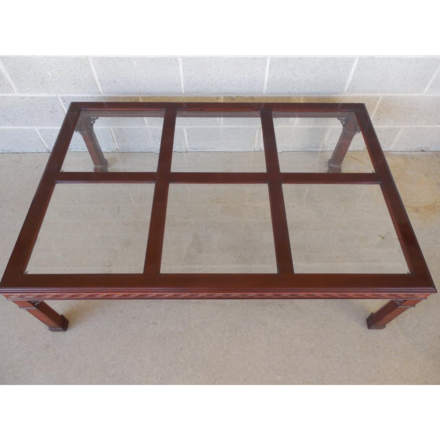 Kindel Chippendale Style Mahogany Coffee Table For Sale - Image 5 of 7