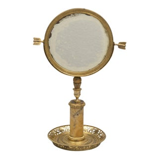 French Ormolu Mirror on Stand For Sale