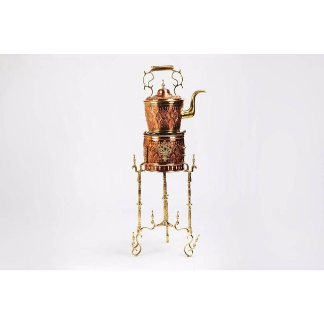 This Majmar / tea pot red copper teapot and stand is a true thing of beauty and will accentuate the aesthetics of any...
