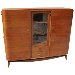 Beautiful French Art Deco Solid Mahogany Maxime Old Bookcase Circa 1940s. For Sale