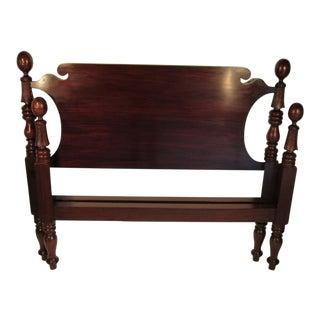 1900s Traditional Irving and Casson Mahogany Full Sized Bedframe