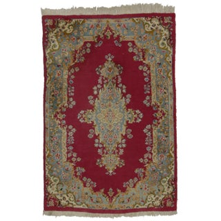 RugsinDallas Hand Knotted Wool Persian Kerman Rug - 4' X 6' For Sale