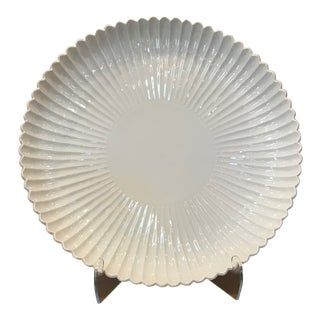 Blanc De Chine Decorative Fluted Plate For Sale