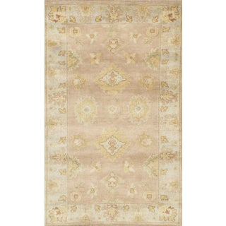 """Pasargad Ny Oushak Design Hand-Knotted Rug - 3'1"""" X 5'1"""" For Sale"""