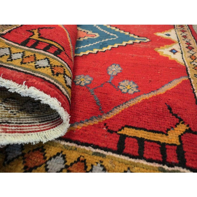 "Vintage Persian Mahal Rug – Size: 2' 9"" X 2' 11 For Sale - Image 9 of 10"