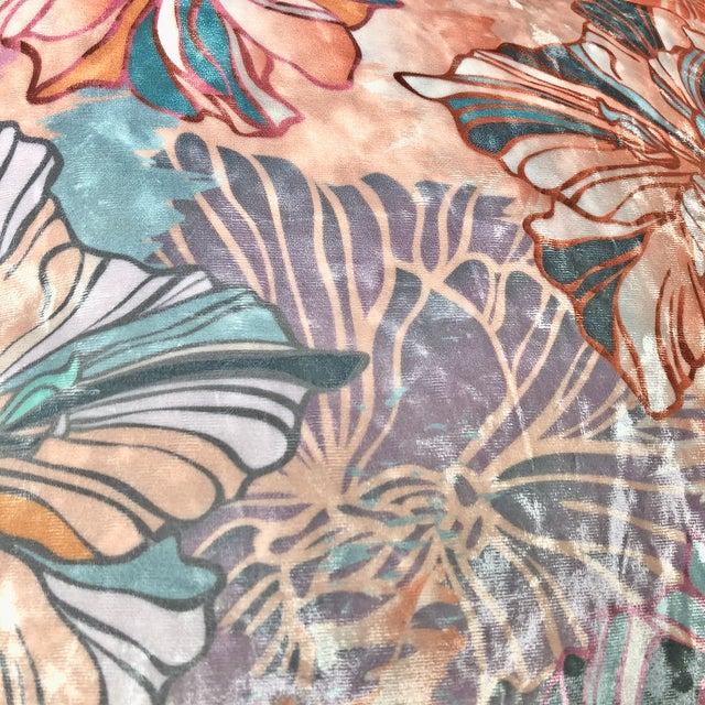 2020s Sōhe Studio Boudoir Bloom and Grid Velvet Pillows - a Pair For Sale - Image 5 of 6