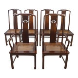 Image of 19th Century Henredon Solid Mahogany Dining Chairs-Set of 6 For Sale