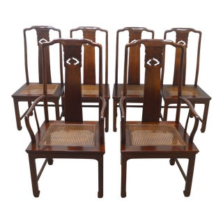 19th Century Henredon Solid Mahogany Dining Chairs-Set of 6 For Sale