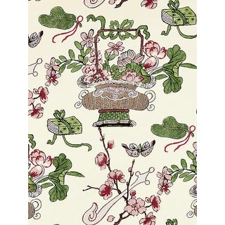 Sample, Scalamandre Shanghai Blossoms, Mulberry Fabric For Sale