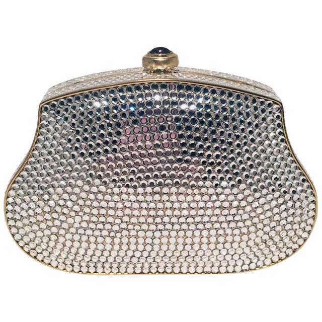 f3c4f2715c24 Judith Leiber Clear Swarovski Crystal Mini Minaudiere Evening Bag Clutch  For Sale