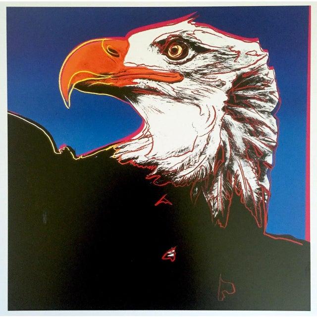 "Andy Warhol Estate Rare Vintage 1992 Endangered Species Collector's Lithograph Pop Art Print "" Bald Eagle "" 1983 For Sale - Image 9 of 10"