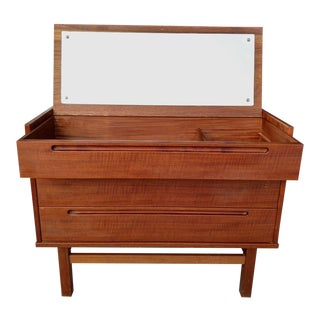 Danish Modern Teak Vanity, Mid-Century For Sale