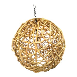 Large Natural Twisted Twigs Giant Sphere Round Globe Ball Chandelier Light Fixture For Sale