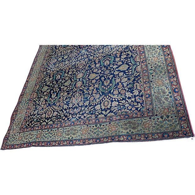 """Antique Persian """"Tabriz"""" Handmade Rug - 9′ × 12′ For Sale In New York - Image 6 of 8"""