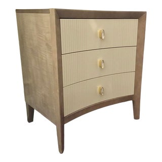 Caracole Modern Taupe and Ivory Nightstand For Sale