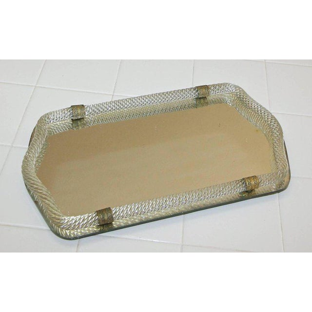 Italian Murano Twisted Glass Rope Vanity Tray For Sale - Image 9 of 11