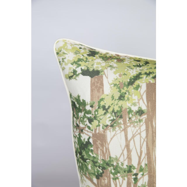 Custom Green Woodland Pillows - A Pair - Image 2 of 5