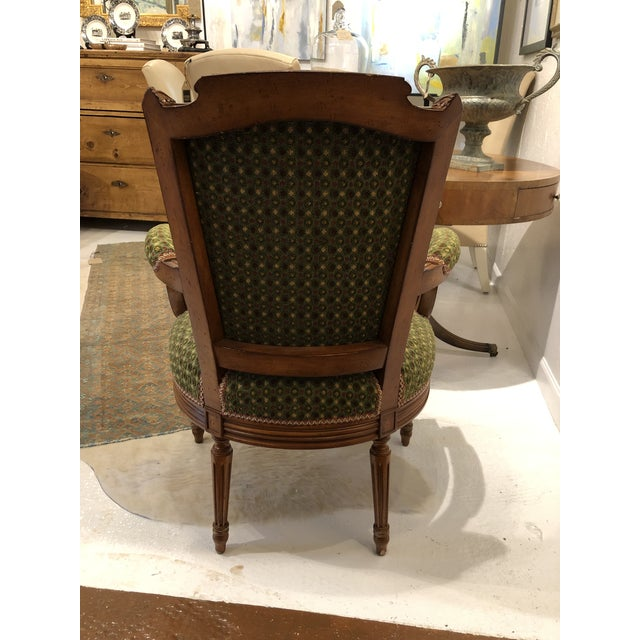 Brunschwig & Fils French Carved Chair (Upholstery Like New) For Sale - Image 4 of 7