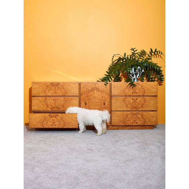 Modern Burl Credenza by Milo Baughman for Lane For Sale - Image 3 of 5