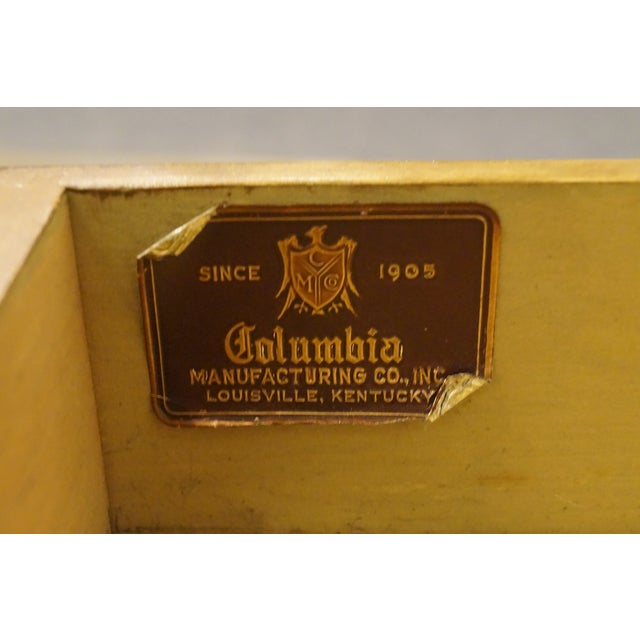 20th Century Traditional Columbia Manufacturing Mahogany Pembroke End Table For Sale - Image 9 of 13