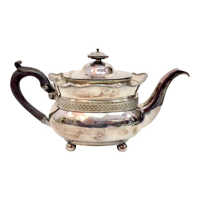 Antique Silver Plated Copper Teapot For Sale - Image 12 of 12