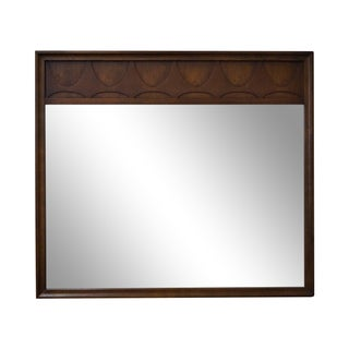Mid-Century Modern Walnut Brasilia Mirror For Sale