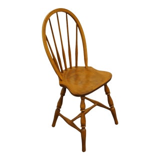 S. Bent Bros. Gardener, Mass. Colonial Style Maple Spindle Back Accent Sewing Side Chair For Sale