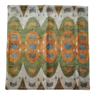Silk Velvet Ikat Pillow For Sale