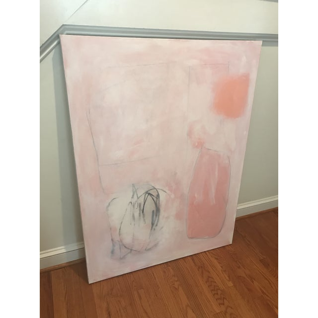 """Abstract Sarah Trundle, """"Untitled: In Peach"""", Contemporary Abstract Painting For Sale - Image 3 of 5"""