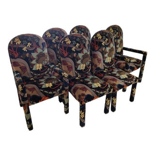 Jack Lenore Larsen Upholstered Dining Chairs - Set of 6 For Sale