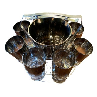 Mid 20th Century Dorothy Thorpe Glassware Set - Set of 10 For Sale