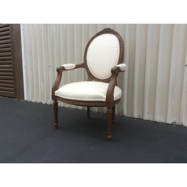 1920s French Style Chair With Oval Back For Sale - Image 5 of 7