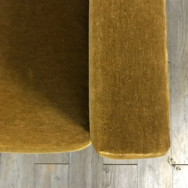 Vintage Gold Mohair Sofa - Image 6 of 11