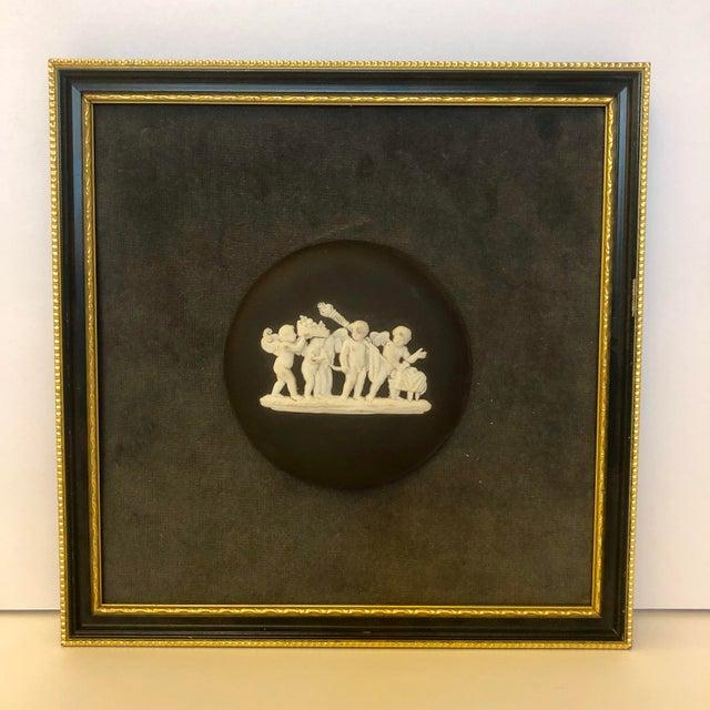 Mid 20th Century Vintage Wedgwood Black Jasperware Medallion Plaque For Sale - Image 5 of 5