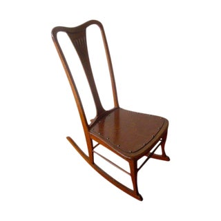 20th Century Americana Wooden Rocking Chair For Sale