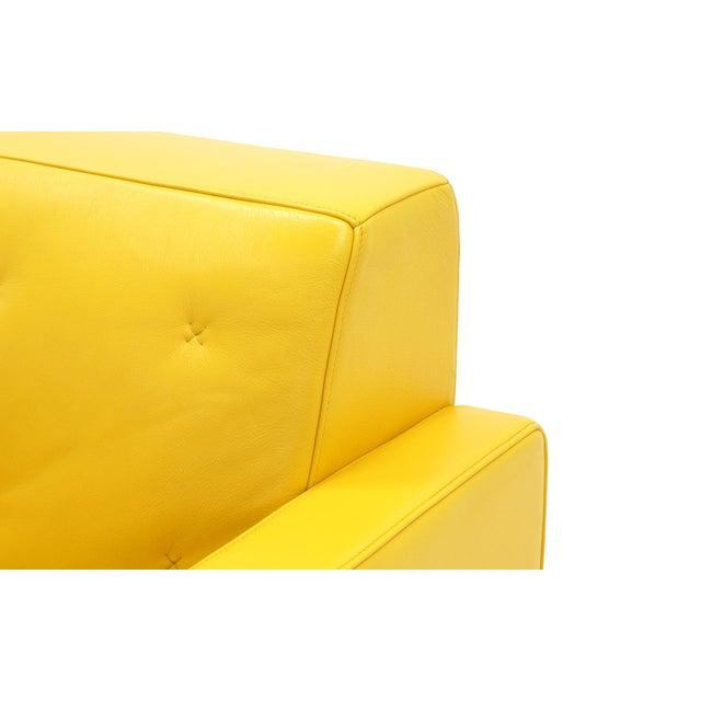 Poltrona Frau Yellow Leather Memory Swivel Lounge Chair - Image 8 of 11