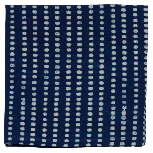 A delightful addition to any dinner table, our indigo print napkins are ideal for special occasions and lovely for simple...