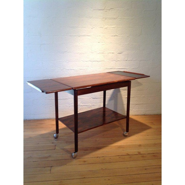 Mid-Century Modern Rosewood Bar Cart by Drylund For Sale - Image 3 of 7