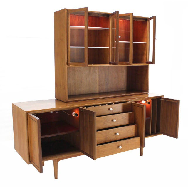 Drexel Declaration Two Part Cabinet For Sale In New York - Image 6 of 9