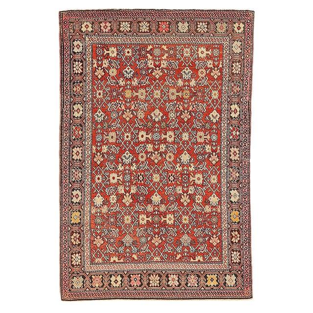 "Antique Persian Karajeh Rug-4'2'x6'4"" For Sale"