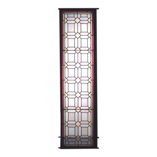 American Victorian Stained Glass Window For Sale