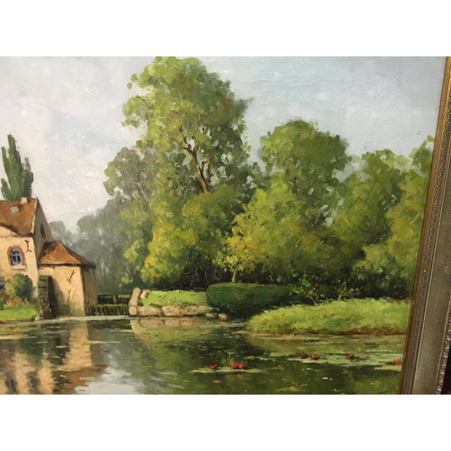 Saulin Oil Painting French Landscape Moulin Des Beechet a Olivet For Sale - Image 4 of 6