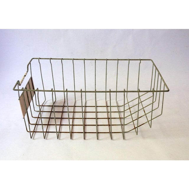 Mid 20th Century Vintage Mid Century Wire Basket For Sale - Image 5 of 13