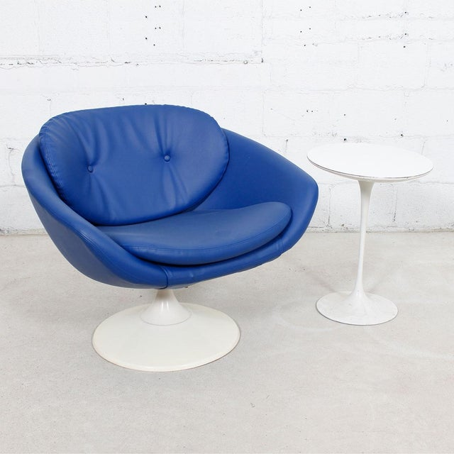 Blue 60s Swivel Pod Chair by Overman of Sweden - Image 9 of 10