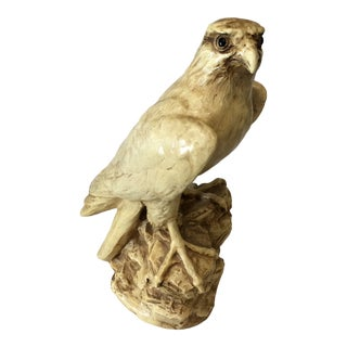 Vintage Plaster Statue of Falcon For Sale