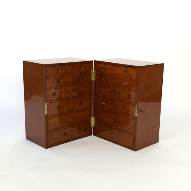 Mid 19th Century Campaign Style Solid Mahogany Apothecary Chest, Circa 1860 For Sale - Image 5 of 10