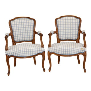 Vintage French Louis XV Chairs- a Pair For Sale