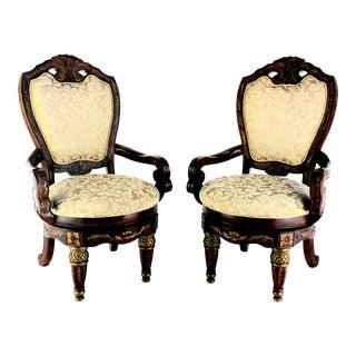 Aico Michael Armini Torino Swivel Dining Chairs - a Pair For Sale